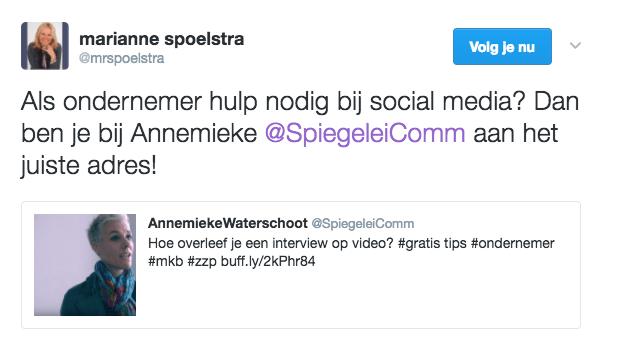 testimonial Spiegelei Communicatie Marianne Spoelstra