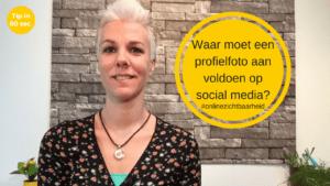 Waar moet een profielfoto op social media aan voldoen?