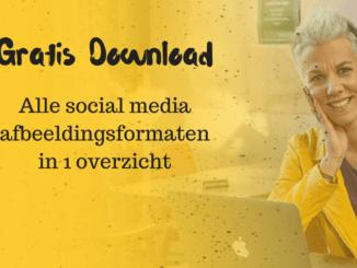 Gratis download met alle formaten van social media