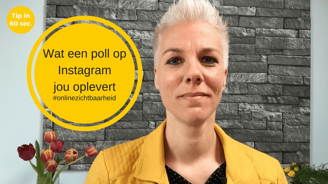 Wat een poll op Instagram jou oplevert